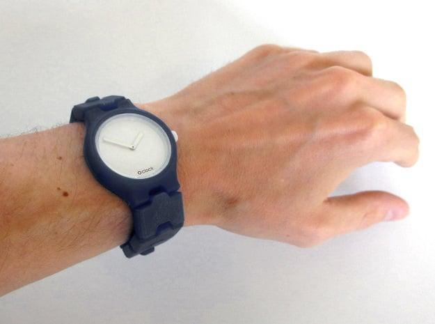Olink Watch band in Black Natural Versatile Plastic