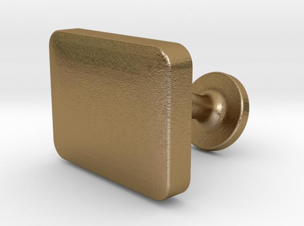 Custom Cufflink #04 - Rectangular in Polished Gold Steel