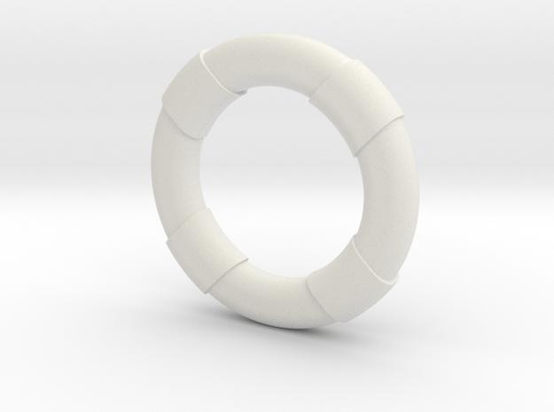 1:30 Life Preserver in White Natural Versatile Plastic
