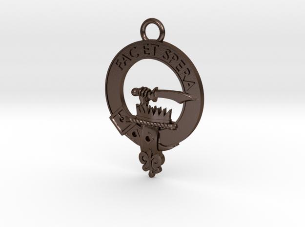 Clan Matheson key fob in Polished Bronze Steel