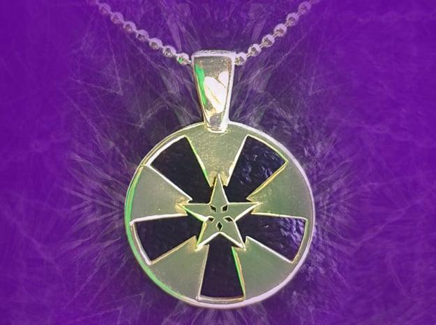 Amaranthine Pendant in Polished Silver