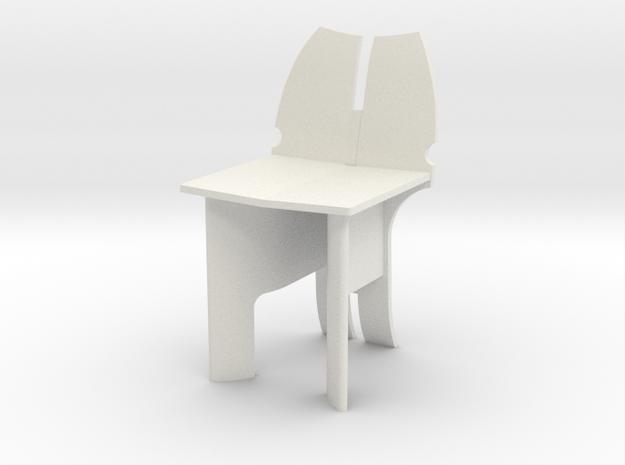 AV Chair in White Natural Versatile Plastic