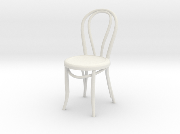 1:24 Thonet Chair 1 (Not Full Size) in White Natural Versatile Plastic