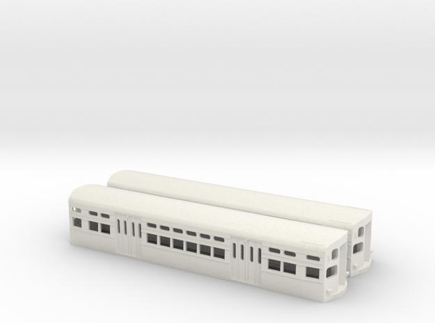 CTA 6000 Series, As-Built Flat Door Pair in White Natural Versatile Plastic