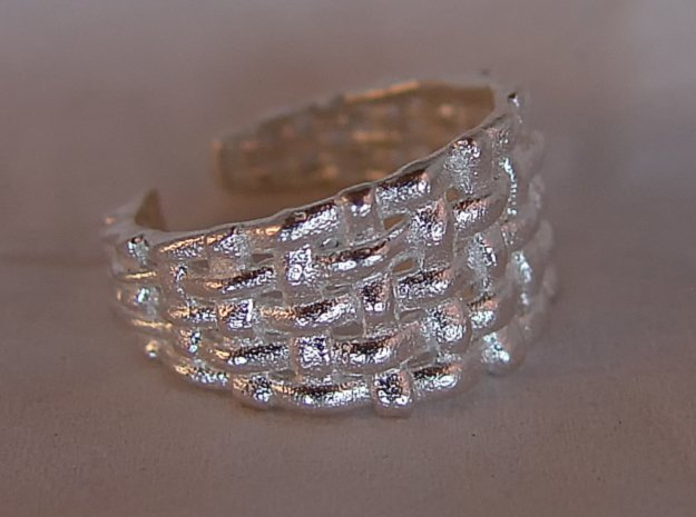 Woven Ring in Natural Silver