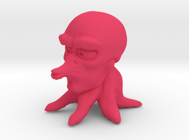 Cute Tako in Pink Processed Versatile Plastic