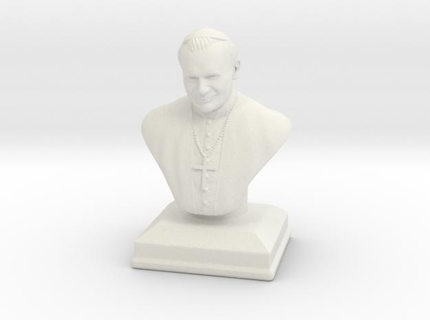 Pope John Paul 2  in White Natural Versatile Plastic