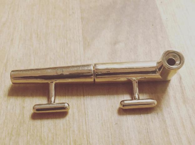 Pufflinks in Polished Brass