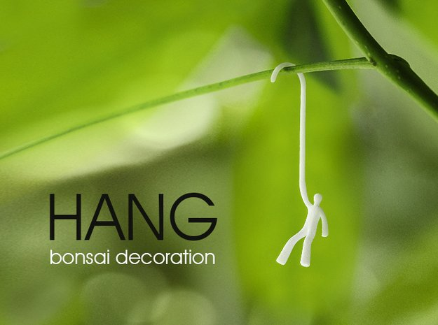 Very small tree decoration in White Natural Versatile Plastic