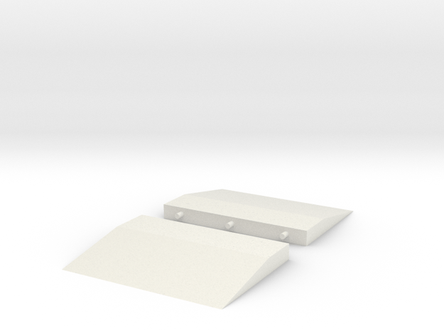1/64 Scale Ramps in White Natural Versatile Plastic