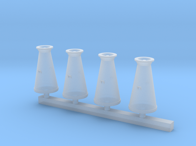Milk Churns 4mm scale in Smooth Fine Detail Plastic