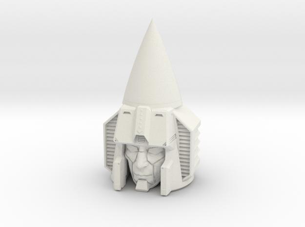 """Seeker"" custom 1:6th scale head in White Natural Versatile Plastic"