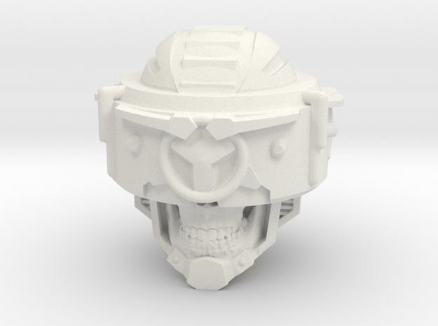 """Skull Klops"" custom 1:6th scale head in White Natural Versatile Plastic"