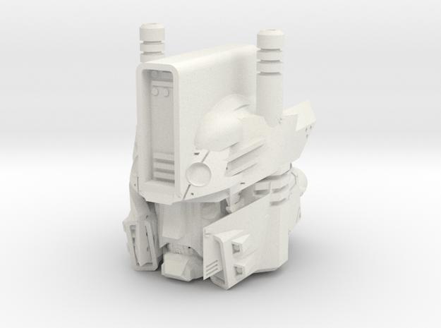"""Robot Frankenstein"" custom 1:6th scale head in White Natural Versatile Plastic"