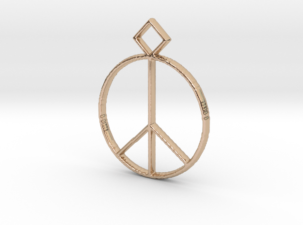 Peace Pendant in 14k Rose Gold Plated Brass