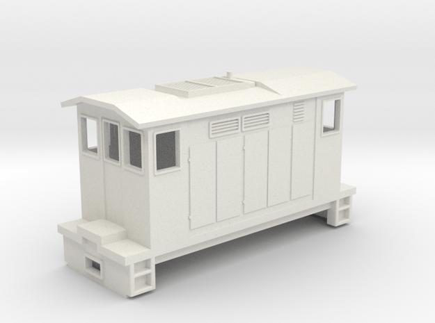 """HOn30 Boxcab Locomotive (""""Maud"""" V2) in White Natural Versatile Plastic"""
