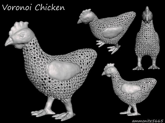 Voronoi Chicken  in White Natural Versatile Plastic