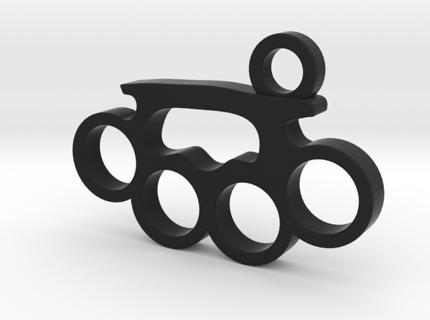 Knuckle Pendant in Black Natural Versatile Plastic