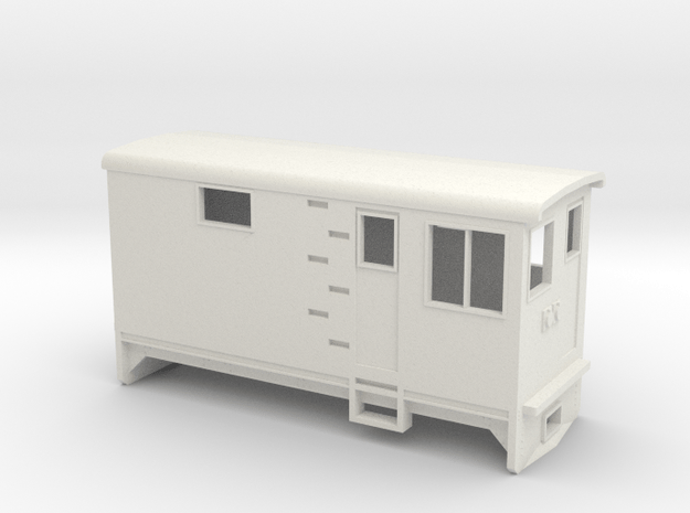 HOn30 Electric Boxcab Locomotive (Kate 1) in White Natural Versatile Plastic