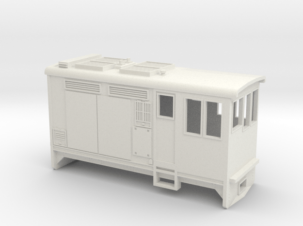 HOn30 Boxcab Locomotive (Kate 2) in White Natural Versatile Plastic