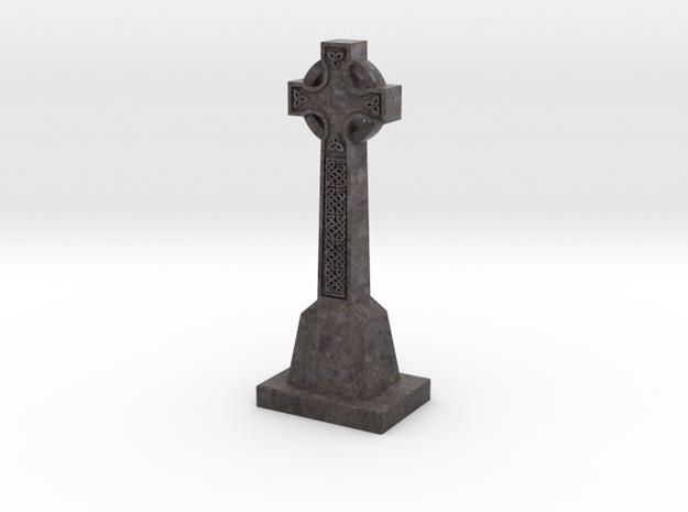 Celtic Cross - textured in Full Color Sandstone