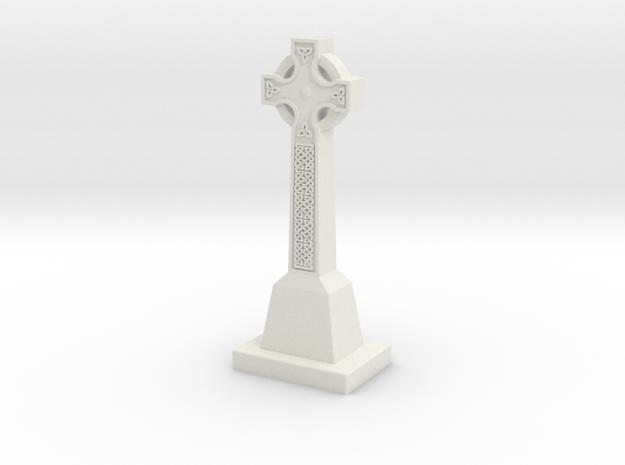 Celtic Cross in White Natural Versatile Plastic