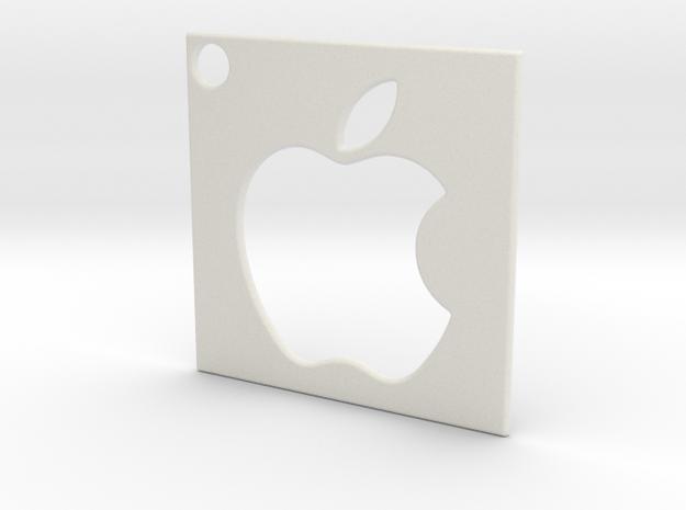 Apple - Logo Pendant in White Natural Versatile Plastic