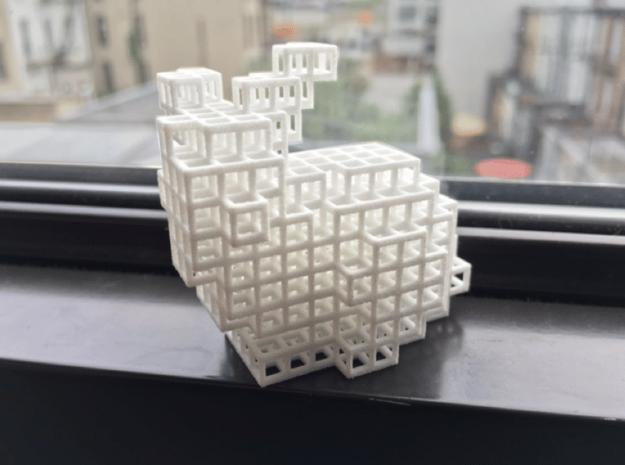 Voxel Bunny in White Natural Versatile Plastic