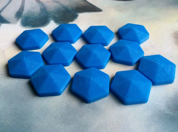 Mana Crystals (batch of 5) in Blue Processed Versatile Plastic