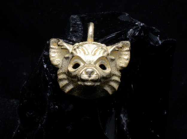 Lemur Pendant in Polished Gold Steel