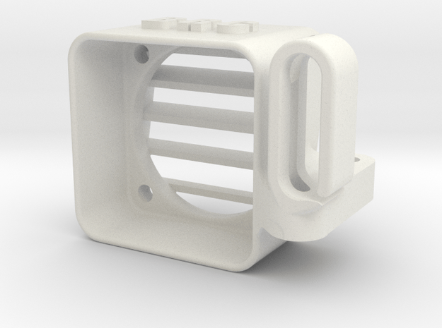 YZ4 - Speedo Fan Cooler & Wire Guide ( 25x25mm ) in White Natural Versatile Plastic