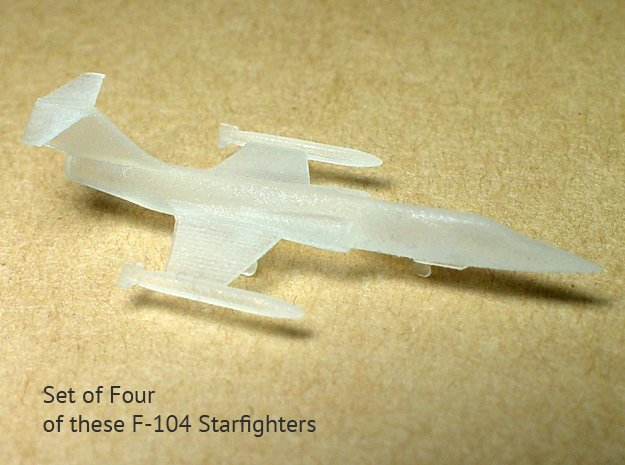 4x 1/350 scale F-104 Starfighter with Gear Down in Smooth Fine Detail Plastic