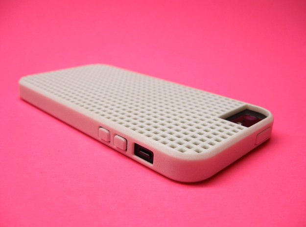 Somi for iPhone 5/5s, a case you can cross stitch  in White Processed Versatile Plastic