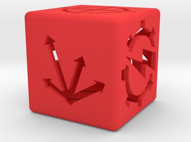 Special order die in Red Processed Versatile Plastic