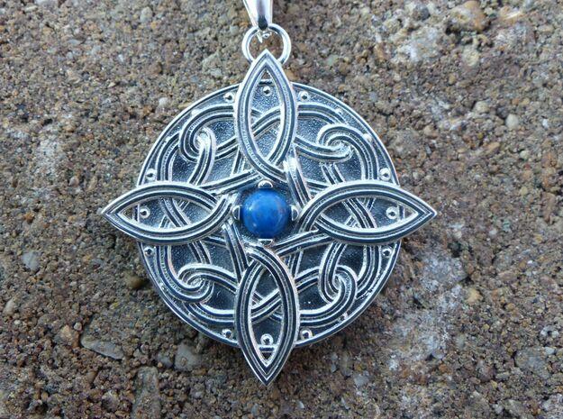 Amulat of Mara - NO GEM in Polished Silver