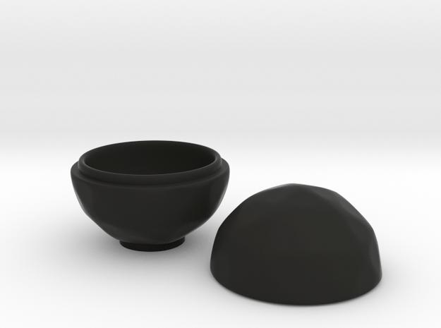 Icono Tea Container in Black Natural Versatile Plastic