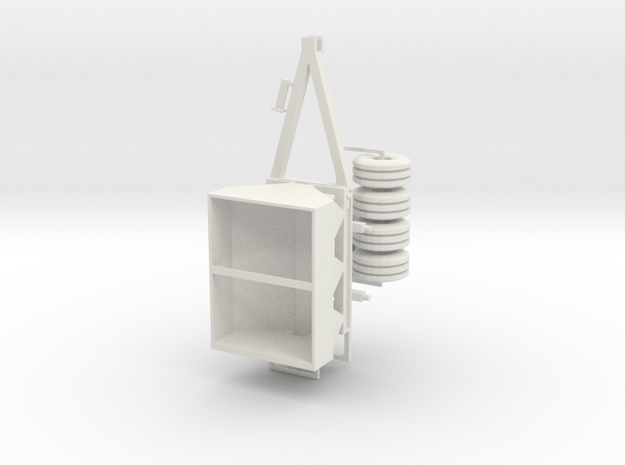 1/64 fertilizer spreader hydraulic drive version in White Natural Versatile Plastic