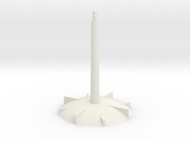 Base - long stem in White Natural Versatile Plastic