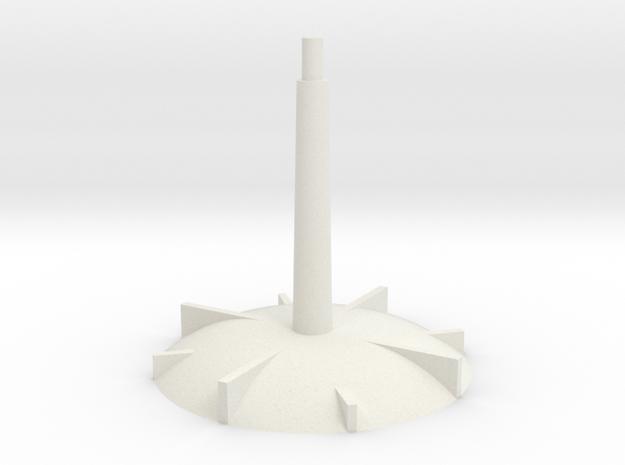 Base - medium stem in White Natural Versatile Plastic
