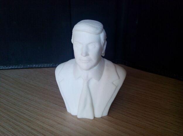 Donald Trump in White Processed Versatile Plastic