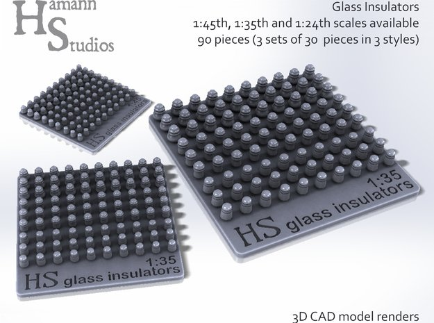GLASS INSULATORS-45th in Smoothest Fine Detail Plastic