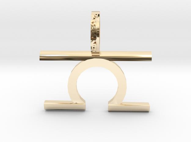 Libra (Zodiac)- Pendant in 14k Gold Plated Brass