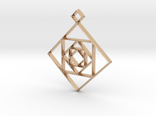 Inception Pendant in 14k Rose Gold Plated Brass