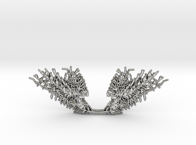 Parametric Necklace v.1 in Fine Detail Polished Silver