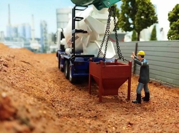 1:50 Cement Concrete Bucket in White Natural Versatile Plastic