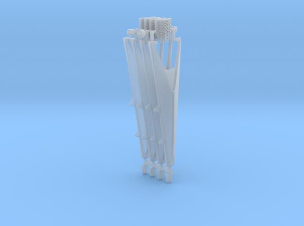 Landing Legs, Grid Fins Falcon 9 v1.2 Block 1-3  in Smooth Fine Detail Plastic: 1:144