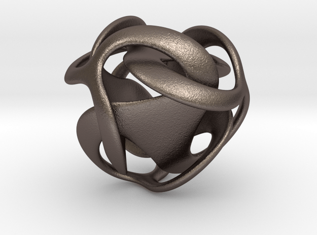 Tricobi - 20mm in Polished Bronzed Silver Steel