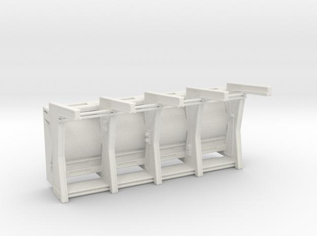 Front Wall Insert v2 for DeAgo Falcon in White Natural Versatile Plastic