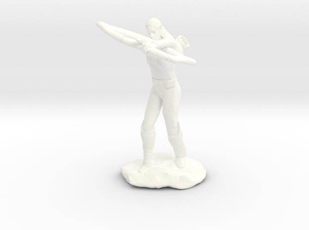 Elf Ranger with Longbow in White Processed Versatile Plastic