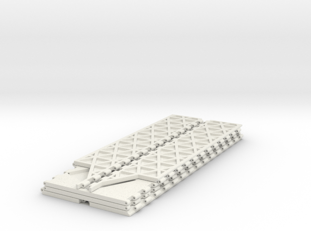 Foldable Dicetower Part 1 in White Natural Versatile Plastic